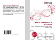 Bookcover of Alexei Alexejewitsch Brussilow