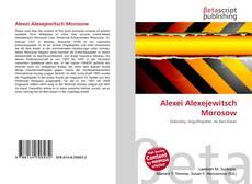 Bookcover of Alexei Alexejewitsch Morosow