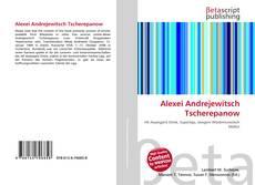 Bookcover of Alexei Andrejewitsch Tscherepanow