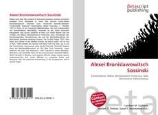 Buchcover von Alexei Bronislawowitsch Sossinski