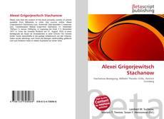 Bookcover of Alexei Grigorjewitsch Stachanow