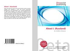 Bookcover of Alexei I. (Russland)