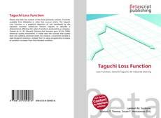 Couverture de Taguchi Loss Function