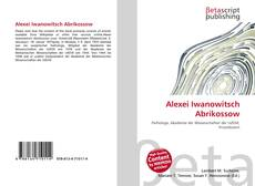 Bookcover of Alexei Iwanowitsch Abrikossow