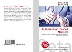 Обложка Randy Johnson (Council Member)