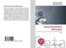Buchcover von Alexei Petrowitsch Maressjew