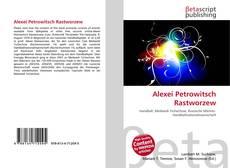 Buchcover von Alexei Petrowitsch Rastworzew
