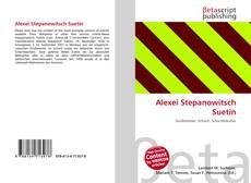 Bookcover of Alexei Stepanowitsch Suetin