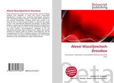Buchcover von Alexei Wassiljewitsch Drosdow