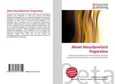 Bookcover of Alexei Wassiljewitsch Pogorelow