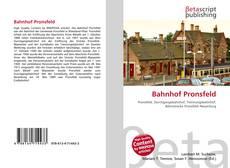 Capa do livro de Bahnhof Pronsfeld