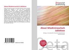 Bookcover of Alexei Wladimirowitsch Jablokow