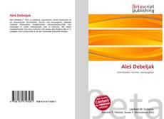 Portada del libro de Aleš Debeljak