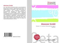 Bookcover of Alexianer GmbH