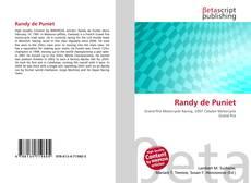 Randy de Puniet的封面