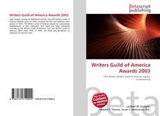 Borítókép a  Writers Guild of America Awards 2003 - hoz