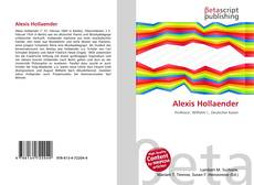 Обложка Alexis Hollaender