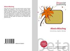 Bookcover of Alexis-Bläuling