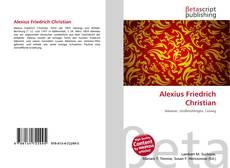 Borítókép a  Alexius Friedrich Christian - hoz