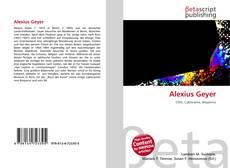 Alexius Geyer kitap kapağı