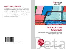 Portada del libro de Wasatch Stake Tabernacle