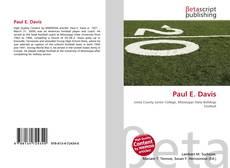 Bookcover of Paul E. Davis