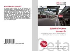 Bookcover of Bahnhof Vukov spomenik