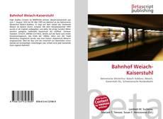 Bahnhof Weiach-Kaiserstuhl kitap kapağı
