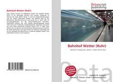 Bookcover of Bahnhof Wetter (Ruhr)