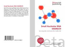 Couverture de Small Nucleolar RNA SNORD29