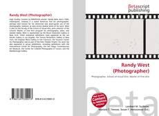 Capa do livro de Randy West (Photographer)