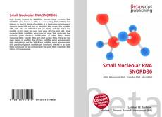 Buchcover von Small Nucleolar RNA SNORD86