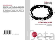 Capa do livro de Alfons Kotowski
