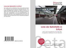 Buchcover von Liste der Bahnhöfe in Erfurt