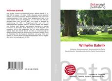 Bookcover of Wilhelm Bahnik