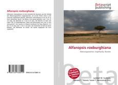 Bookcover of Alfaropsis roxburghiana