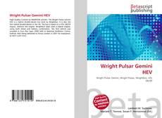 Capa do livro de Wright Pulsar Gemini HEV