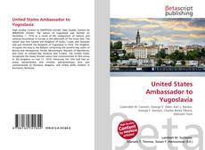 Buchcover von United States Ambassador to Yugoslavia