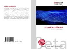 Capa do livro de Sound Installation