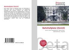 Bookcover of Bahnhofplatz (Zürich)