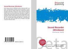Обложка Sound Recorder (Windows)