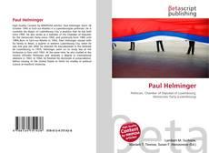 Paul Helminger kitap kapağı