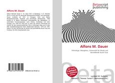 Bookcover of Alfons M. Dauer