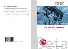 Обложка B-1 Nuclear Bomber