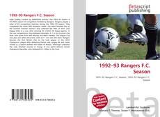 Couverture de 1992–93 Rangers F.C. Season