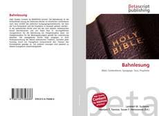 Capa do livro de Bahnlesung