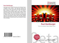Buchcover von Paul Hamburger