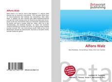Buchcover von Alfons Walz