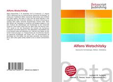 Bookcover of Alfons Wotschitzky