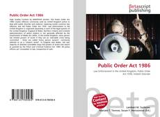 Bookcover of Public Order Act 1986